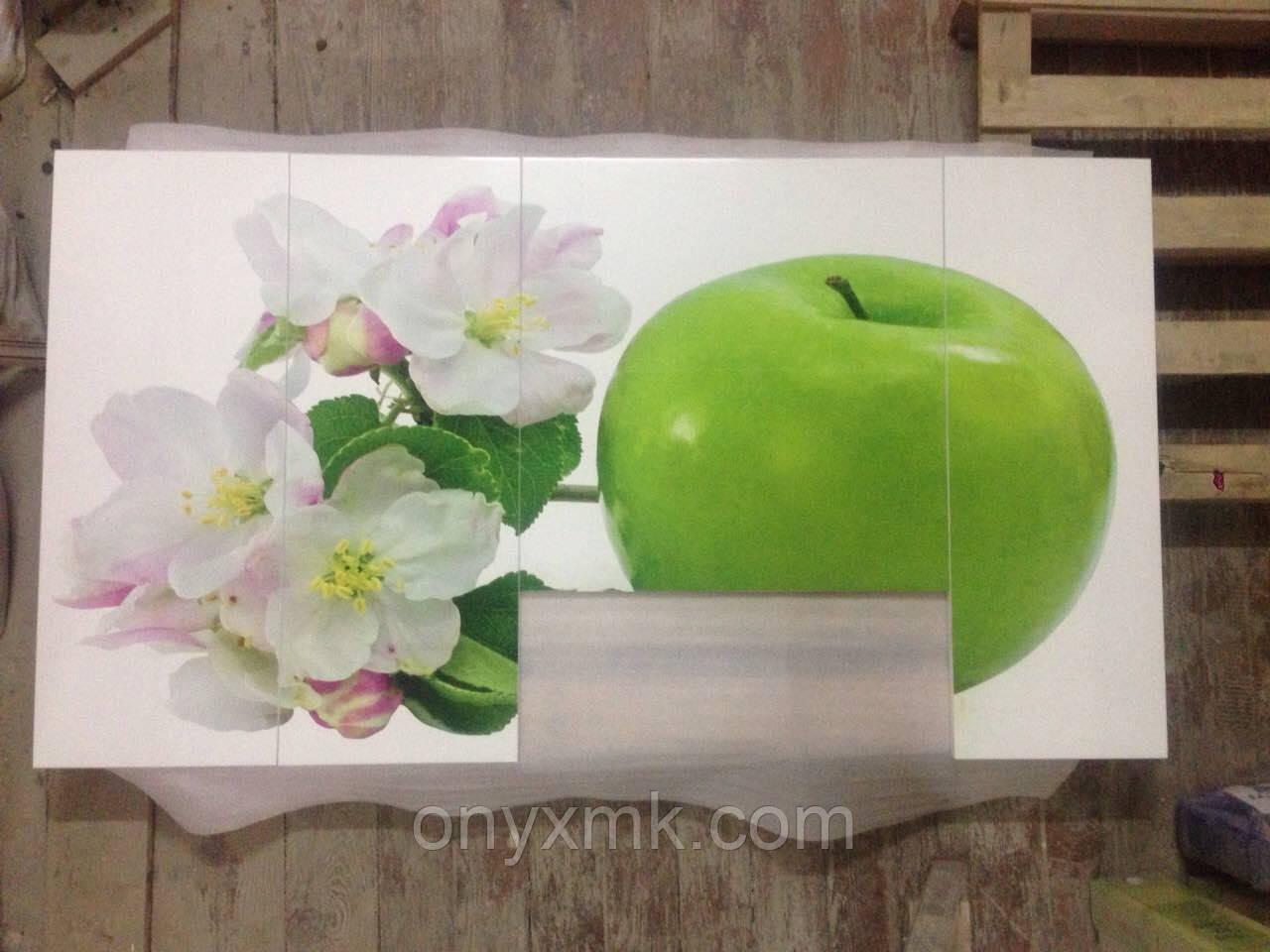 """Фотопечать на МДФ фасадах под лаком """"яблоко"""""""