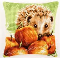 """Набор для вышивки крестом   Vervaco """"Hedgehog with apples (Ежик в яблоках)"""""""