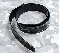 Ремень солдатский с прошивкой черный