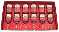 """Набор 12 предметный GE01-163/405 рисунок """"Греческий узор""""(бокалы для вина и стаканы"""