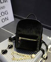 Милый бархатный рюкзак для модных девушек, фото 2