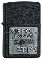363 - ZIPPO ZIPPO PEWTER EMBLEM BLACK CRACKLE
