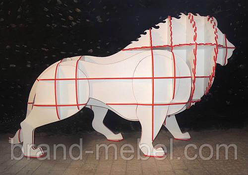 Декоративная полка Бело-красный Лев