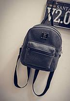 Вместительный мини рюкзак с морщинками, фото 2
