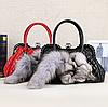 Меховая сумочка. Женская сумка из натурального меха лисы