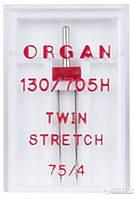 Двойная игла ORGAN 130/705H TWIN STRETCH (75/4)