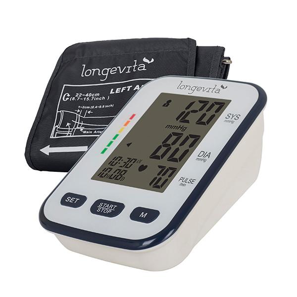 Вимірювач тиску автоматичний LONGEVITA BP-102M + адаптер в комплекті