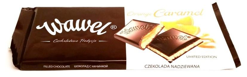 """Шоколад черный """"Wawel"""" Вавель с апельсиновой карамелью Польша 100г"""