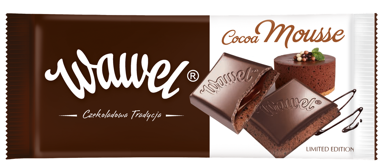 Шоколад  Wawel cocoa mousse Вавель какао мусс 100г (Польша).