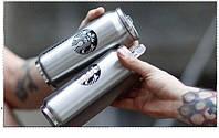 Термос Starbucks/Старбакс, 450 мл. Металлический тамблер в виде банки