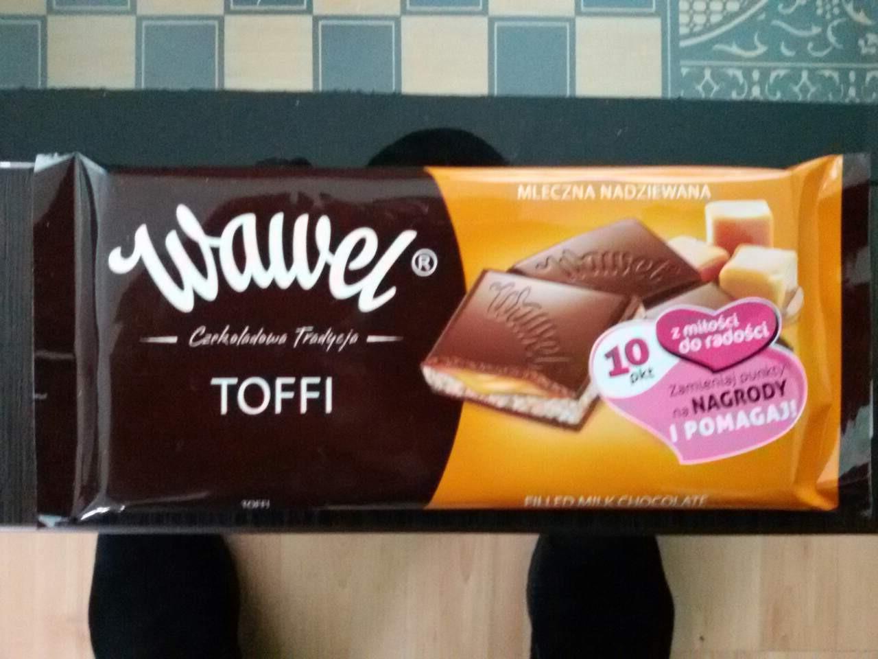 Шоколад  Wawel toffi Вавель Тоффи 100г (Польша).