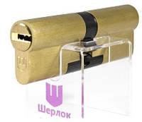 Цилиндр замка Sherlock (Шерлок) HK 100мм (60х40) ключ-ключ золото