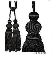 Декоративные кисти для штор, подвязки Бархатный Чёрный