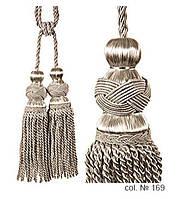 Декоративные кисти для штор, подвязки Белое Серебро