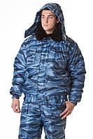 Костюм утепленный для охранника, камуфляжная форма охраны