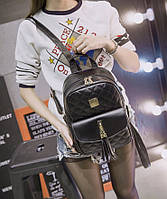 Городской стеганый рюкзак с кисточкой для модных девушек