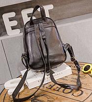 Городской стеганый рюкзак с кисточкой для модных девушек, фото 3