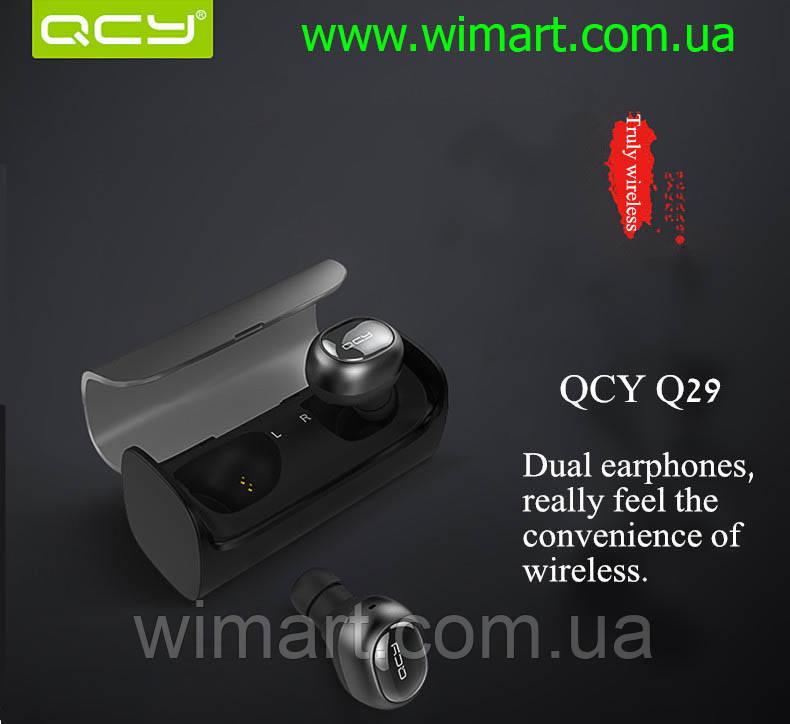 Наушники беспроводные мини гарнитура QCY-Q29 Bluetooth.