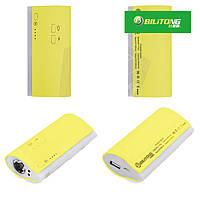 Внешний аккумулятор Bilitong Y023 Power Bank 5600 mAh с фонариком (желтый)