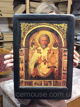 Икона Св.Николая 23х33,на деревянной основе