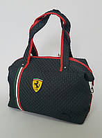 """Женская сумка """"Ferrari"""" черного цвета"""