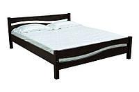Прочная деревянная кровать, с изголовьем и изножьем. Двуспальная модель Скиф Л-215