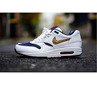 Кроссовки Nike Air Max 87 Wite/Blue/Gold - 1350