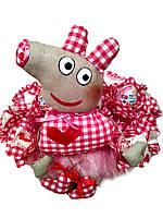 Детский подарок букет из конфет свинка Пеппа