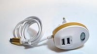 Зарядное устройство MICRO + 2 USB (Diamond USB), адаптер питания 220V