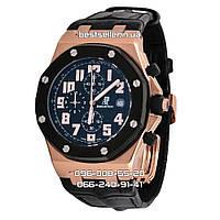 Часы Audemars Piguet Royal Oak Offshore Chronograph Leather black/gold/black. Класс: AAA