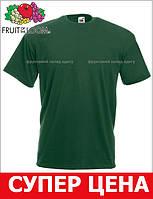 Мужская Футболка Классическая Fruit of the loom Тёмно-Зелёный 61-036-38 S
