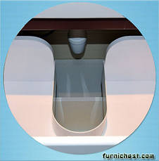 Тумба под раковину для ванной комнаты Симпл-Венге 70-30 (бока венге, вставка венге) с умывальником Комо 70 ПИК, фото 3