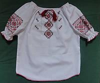 Вышиванка с короткими рукавами (ручная вышивка), рост 92-104 см