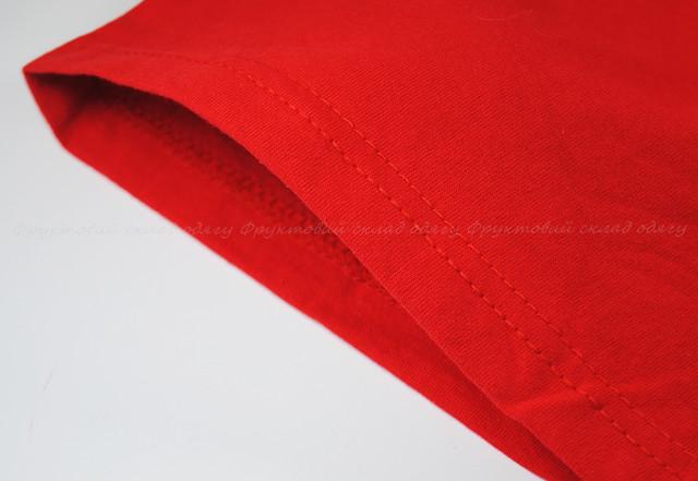 Красная детская классическая футболка для мальчиков
