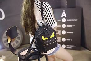 Вместительный мини рюкзак со злыми глазками , фото 2
