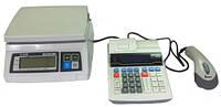 Кассовый аппарат, сканер штрих-кода, весы