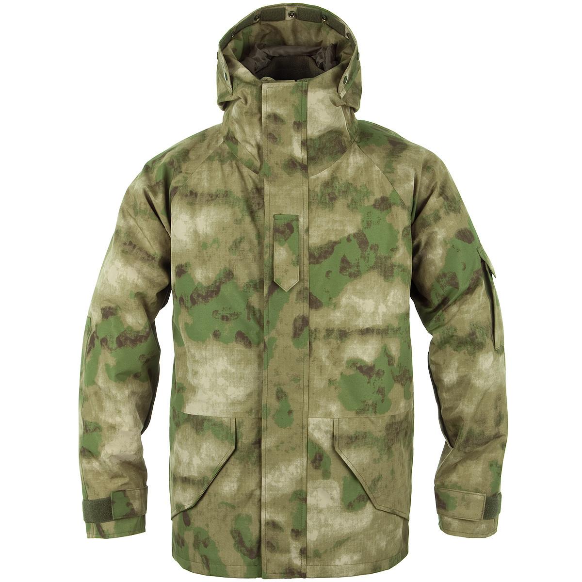 Чоловіча куртка непромокаємий з флісовою підстібкою A-TACS FG Mil-Tec