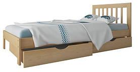 """Ліжко """"Медея міні"""" з ящиками (масив бука)"""