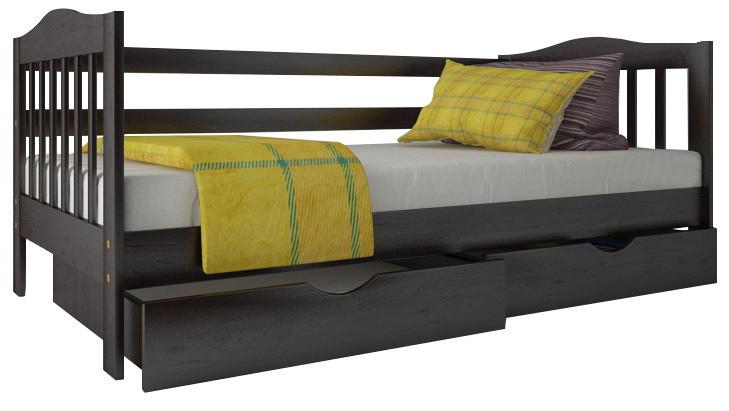 """Ліжко """"Хлоя"""" з ящиками (масив бука)"""