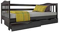 """Односпальная кровать """"Хлоя"""" из дерева (массив бука)"""