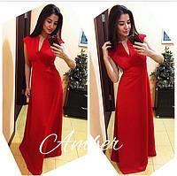 Платье в пол без рукавов (несколько расцветок) c-8032564