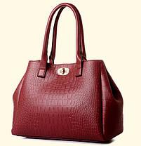 Набор сумок под крокодил для деловых женщин, 5в1, фото 2