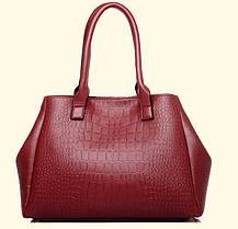 Набор сумок под крокодил для деловых женщин, 5в1, фото 3