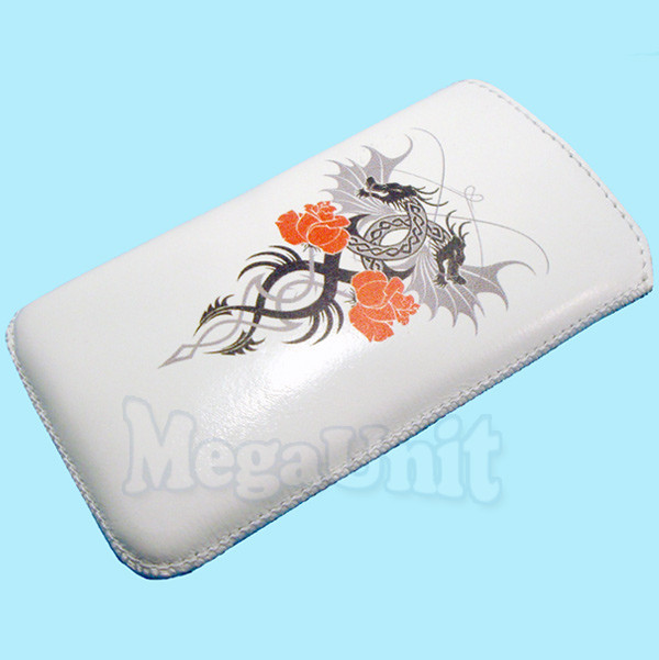 Кожаный чехол-футляр для Apple iPhone 3G / 3Gs (Дракон)