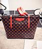 Стильные большие сумки в ромбики, фото 5