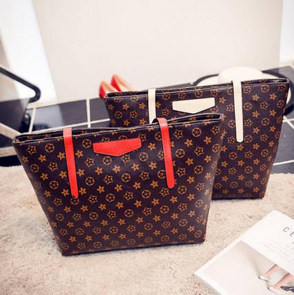 Стильные большие сумки в ромбики, фото 2
