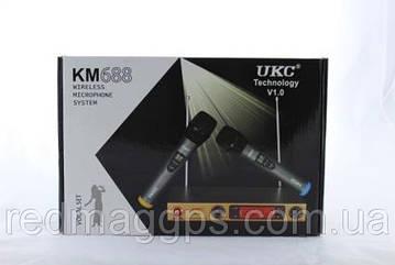 Микрофон DM UKC-688, профессиональная радио система с двумя беспроводными микрофонами и гарнитурой