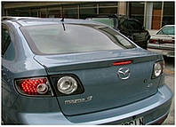 Спойлер на крышку багажника (сабля) Mazda 3 2009+