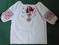 Вышиванка с короткими рукавами (ручная вышивка), рост 98-110 см , фото 1