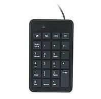 Клавиатура Gembird KPD-01, цифровая USB клавиатура, Black